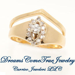 0.55 CTW Diamond Wedding Set in 14K Yellow  Gold