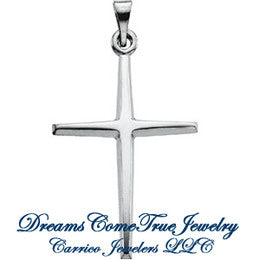 Sterling Silver Cross Pendant in 2 Sizes
