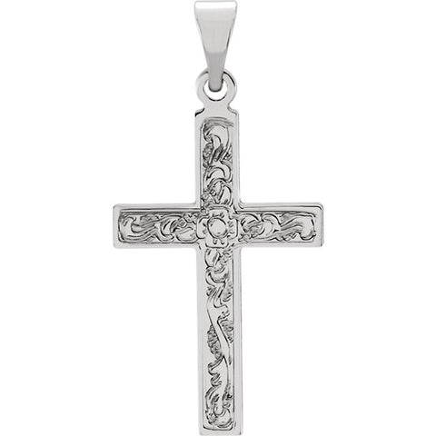 14K White, Yellow or Red Gold Cross Pendant in 4 Sizes