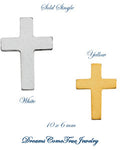 Cross Earrings 14K Yellow or White Gold (Pair)