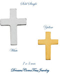 Cross Earring 14K Gold Yellow or White (Pair)