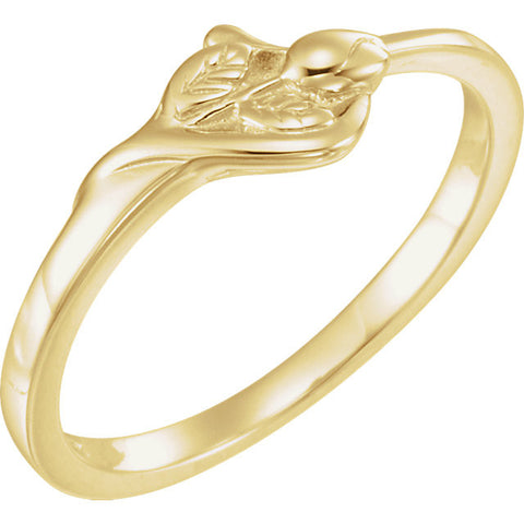 "14K Gold ""Unblossomed Rose"" Chastity Ring"