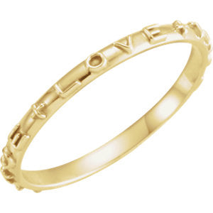 14K, 10K Gold Medium Weight True Love Chastity Ring