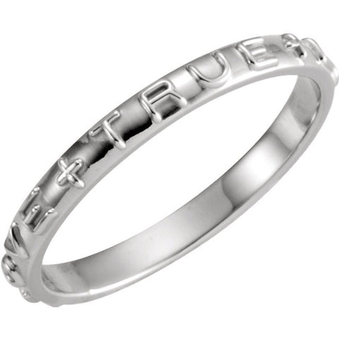 "14K, 10K and Sterling Silver Heavy ""True Love"" Chastity Ring"