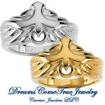Holy Spirit Dove Ring in White or Yellow Gold