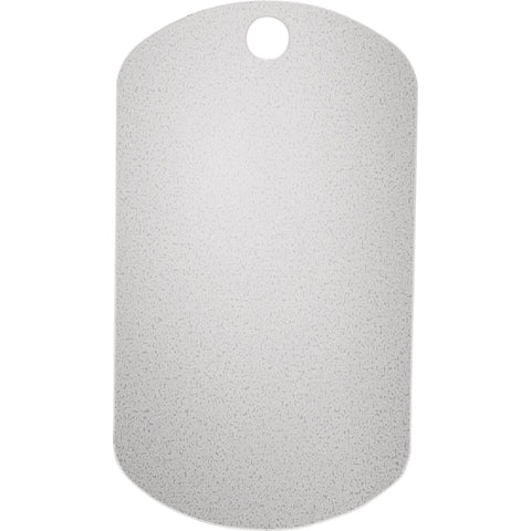 Silver 28.75x50.75mm Plain Dog Tag with Pierced Hole 20 gage