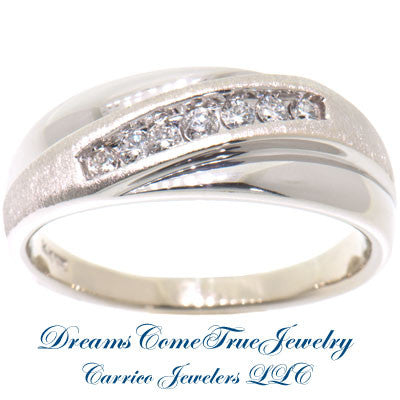 0.50 CTW 7 Diamond Men's 14K White Gold Band