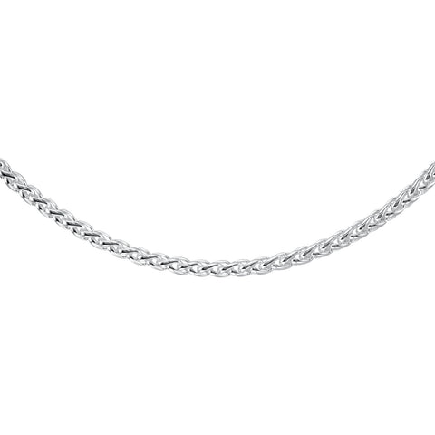 Sterling Silver 6mm Solid Wheat, Sterling Silver 16. Inch.