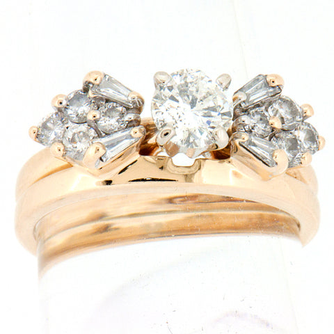 14K Gold 1. CTW Wedding Set