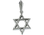 Star of David Pendant 14K White Gold