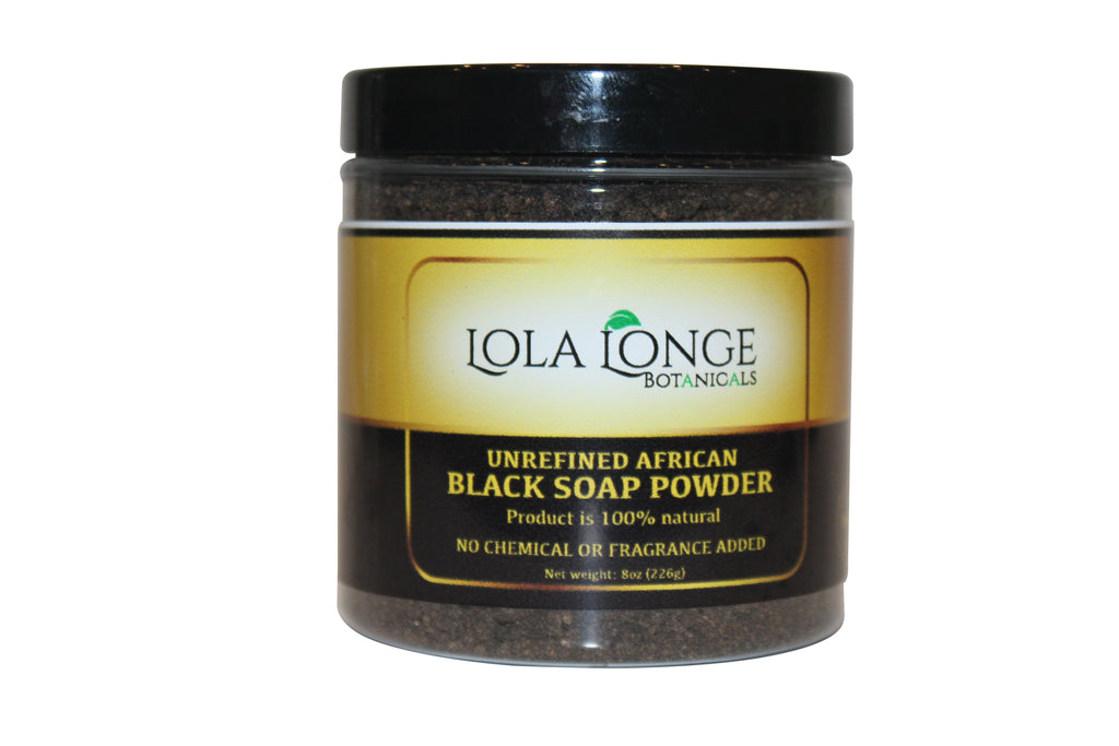 Unrefined African Black Soap Powder
