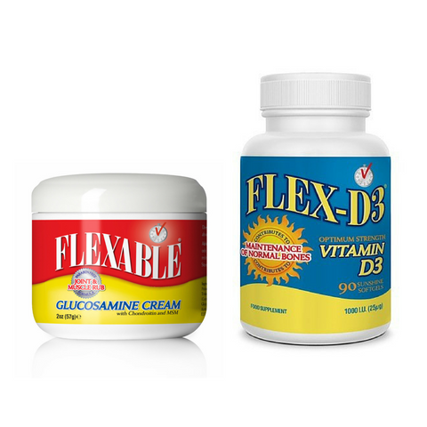 Flexable Joint & Muscle Cream with FREE Flex-D3 Supplements