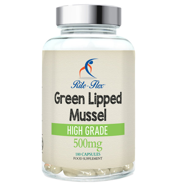 Green Lipped Mussel 500mg, 180 Capsules