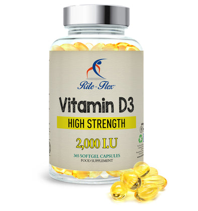 Vitamin D3, 2000 IU 365 Softgels