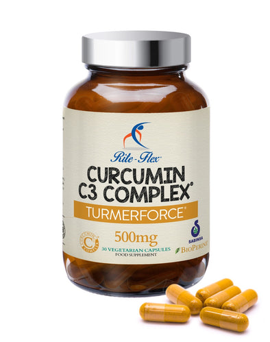 Turmerforce Curcumin C3 Complex 500mg Extract Equivalent to 30,000mg Turmeric Powder with BioPerine®, 95% Curcumins, 30 Vegetarian Vegan Capsules