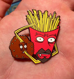 Open Your Eyes Meatwad Hat Pin