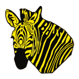 Yellow Bass Zebra Hat Pin