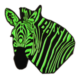 Green Bass Zebra Hat Pin