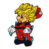 Super Saiyan Mario Hat Pin V2