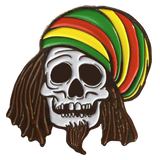 Rasta Skull Hat Pin
