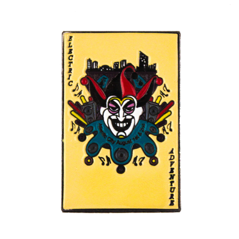 Joker Card Electric Adventure Hat Pin