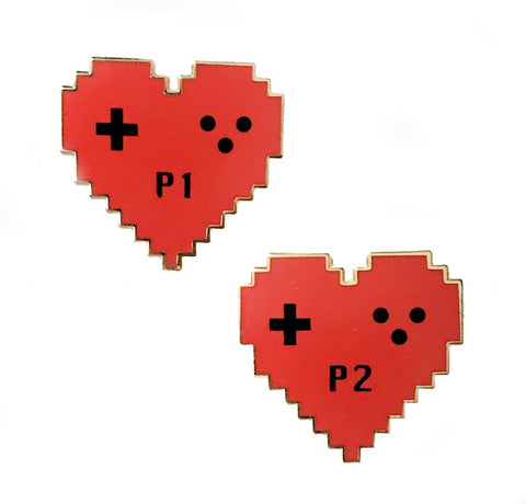 Gamer Love Lapel Pin Set