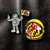 Moonrise Maryland Cosmonauts Hat Pin Set