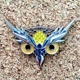Electric Forest Brown Owl Eyes Lapel Pin