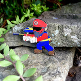 Super Mario and Marvin the Martian Paintball Hat Pins Set