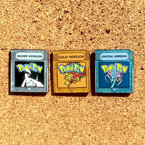 Pokemon Gold, Silver & Crystal Version Hat Pins