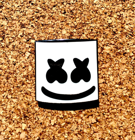 Marshmello Glow in the Dark Lapel Pin