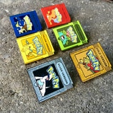 Pokemon Red, Blue, Yellow, Green, Gold & Silver Version Hat Pins