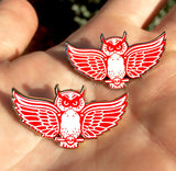 Red Wings Owls Lapel Pin Set