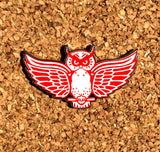 Red Wings Owl - Black Nickel LE150 - Hat Pin