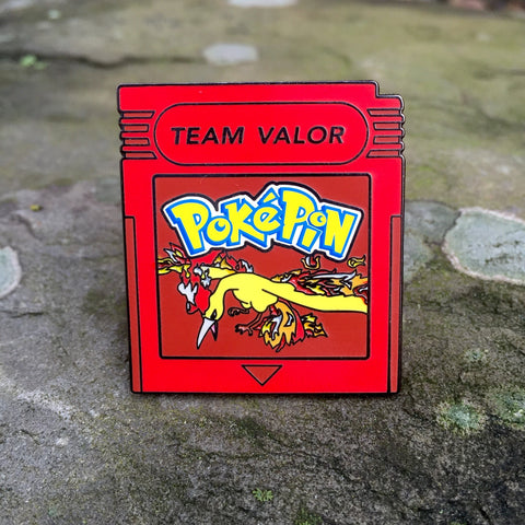 Pokemon Go Team Valor Cartridge Hat Pin