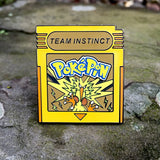 Pokemon Go Team Instinct Cartridge Hat Pin