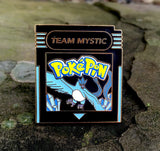 Pokemon Go Team Mystic Cartridge Hat Pin Limited Edition Black on Gold