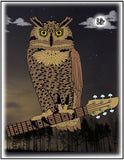 Baine Owl of Peace Lapel Pin
