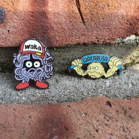 Wakarusa Pokemon Tangula and Geodude Glow Hat Pins