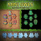 Electric Forest Mini Glow Owls Hat Pin Set