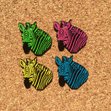 Blue Bass Zebra Hat Pin