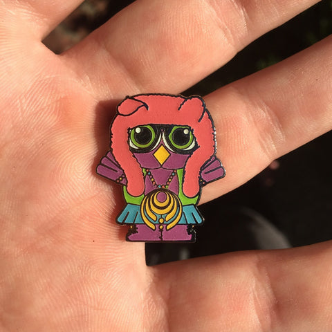 Bassnectar Mini Owl Electric Forest Glow Hat Pin