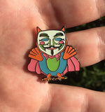 Anonymous Owl Electric Forest Hat Pin Glow