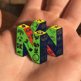 N64 Super Fan Logo Black Nickel Hat Pin