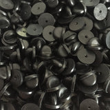 Hat Pin Black Rubber Pin Backs 100