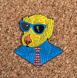 Dapper Dog Lapel Pin