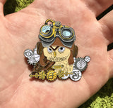 EF 2017 Steampunk Owl Hat Pin Full Set of 2