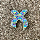Excision Glow in the dark lapel pin V2 antique Gold