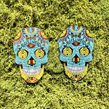 Bassnectar Sugar Skull Hat Pin 2017 Set of 2