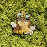 "EF 2017 Steampunk Owl ""Gold Edition"" Hat Pin"